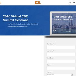 2016 Virtual CBE Summit Sessions