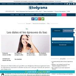 BAC 2017 : Les dates et les épreuves du Bac S L ES STI SMS STG STL STT Hotellerie Pro
