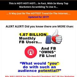 2017 FB Live Social Informer!