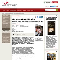 2017 Market, State and Morality