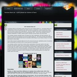 2017 Rainbow Book List « Rainbow Book List
