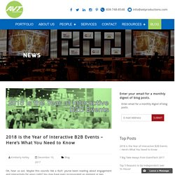 2018 is the Year of Interactive B2B Events