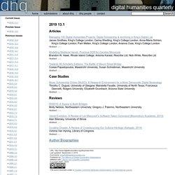 DHQ: Digital Humanities Quarterly: 2012