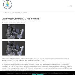 2019 Formats de fichiers 3D les plus courants