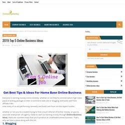 2019 Top 5 Online Business Ideas