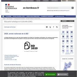 2020, année nationale de la BD - Académie de Bordeaux