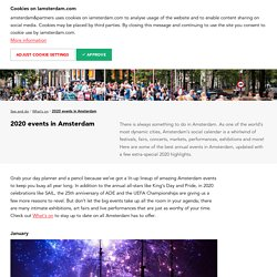 2020 events in Amsterdam