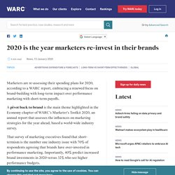 2020 is the year marketers re-invest in their brands