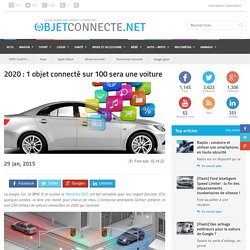 2020 : 1 objet connecté sur 100 sera une voiture