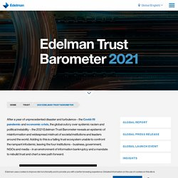 Global report: 2021 Edelman Trust Barometer