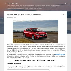 2021 Kia Forte LXS Vs. GT-Line