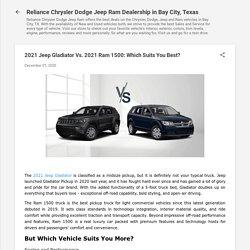 2021 Jeep Gladiator Vs. 2021 Ram 1500