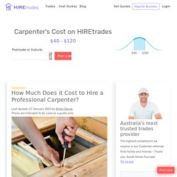 2021 How Much Does it Cost to Hire a Carpenter?