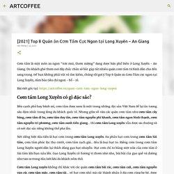 [2021] Top 8 Quán ăn Cơm Tấm Cực Ngon tại Long Xuyên – An Giang