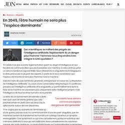 """Louis Del Monte : En 2045, l'être humain ne sera plus """"l'espèce dominante"""""""
