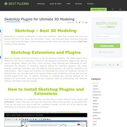 207+ Best Sketchup Plugins - Best Plugins