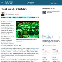 The 21 best jobs of the future