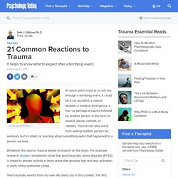 21 Common Reactions to Trauma