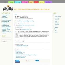 21 CV questions