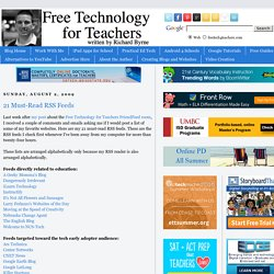 21 Must-Read RSS Feeds