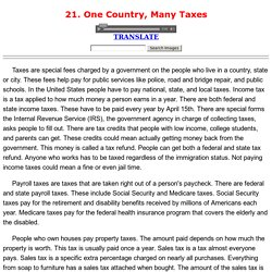 21. One Country, Many Taxes