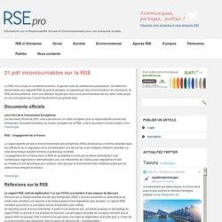 21 pdf incontournables sur la RSE – RSE-Pro