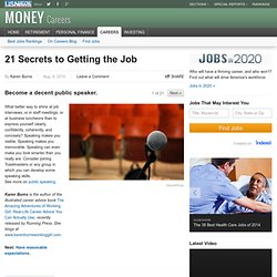 21 Secrets to Getting the Job - US News