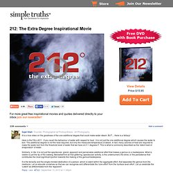 212: The Extra Degree | Simple Truths