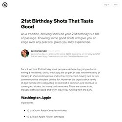 21st Birthday Shots That Taste Good: Recipes to Celebrate the Big Two-One Without Making You Sick