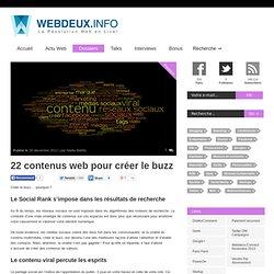 22 contenus web pour créer le buzz