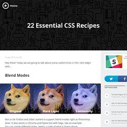 22 Essential CSS Recipes