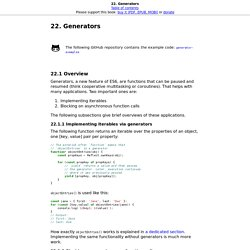 22. Generators