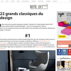 22 grands classiques du design
