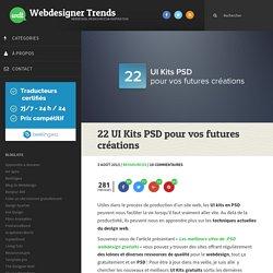22 UI Kits PSD pour vos futures créations