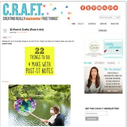 22 Post-it Crafts {Post it Art}