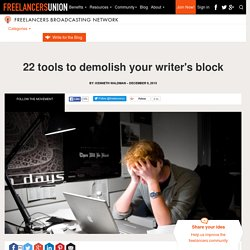 22 tools to demolish your writer's block