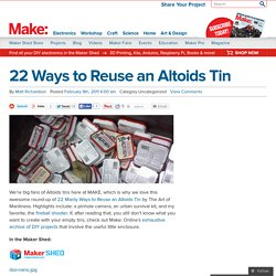 22 Ways to Reuse an Altoids Tin