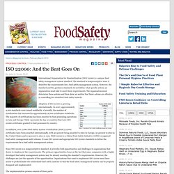 FOOD SAFETY MAGAZINE - FEV 2013 - ISO 22000: And the Beat Goes On