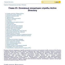 Глава 23. Основные концепции службы Active Directory