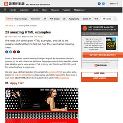 85 amazing HTML examples