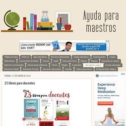 23 libros para docentes