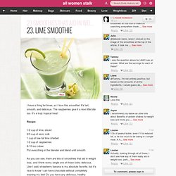 23. Lime Smoothie