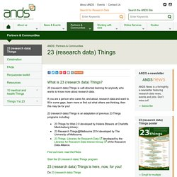 23 (research data) Things - ANDS