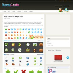 2379 Free Web Design Icons | IconsPedia