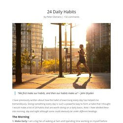 24 Daily Habits