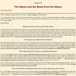 24. The Beast from the Abyss