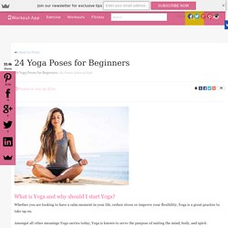 24 Yoga Poses for Beginners