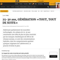 GA 25-30 ans, GÉNÉRATION «TOUT, TOUT DE SUITE»