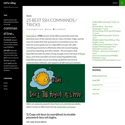 25 Best SSH Commands / Tricks - StumbleUpon