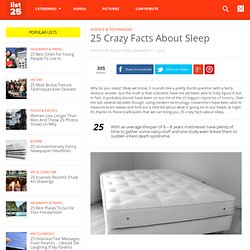 25 Crazy Facts About Sleep